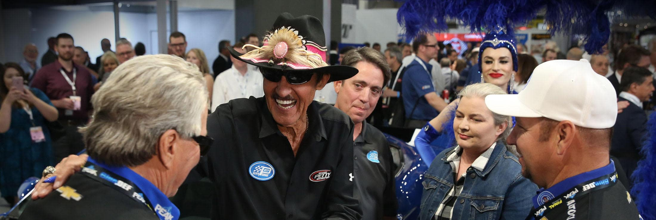 "NASCAR Hall of Famer Richard Petty, ""The King"", greeting fans."